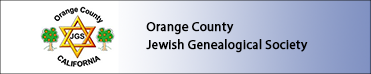 Orange County Jewish Genealogical Society